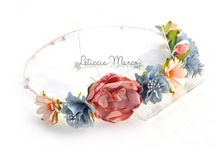 Flores en el pelo / Coronas de flores www.leticciamarco.com