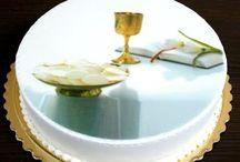 Torty na I Komunię Świętą / Realizacje tortów komunijnych wykonanych przez Cukiernię Krakowskie Wypieki