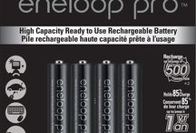 """Panasonic eneloop pro High Capacity Rechargeable Batteries / eneloop pro Ni-MH """"Low Self Discharge"""" batteries utilize Panasonic's advanced rechargeable battery technology providing up to 2550mAh1 of power (AA batteries) and the ability to be recharged up to 500 times."""