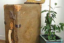 Maletas antiguas ** vintage suitcases / Maletas antiguas recatadas por KPdecorstudio