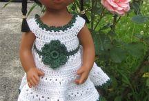 Poupées Marietta D'Nenes / Mes créations au crochet pour les poupées D'Nenes : Patrons et tenues disponibles dans ma boutique