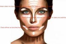 contorno para o rosto