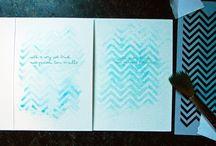Kleurgebruik bij kaarten ... / Stiften, krijtjes, markers, aquarel inkt, ...  De basis van veel kaarten.  Voorbeelden ter inspiratie, maar ook technieken vindt u hier.