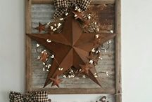 Primitives / Rustic and primitive decorating ideas and craft. Americana.