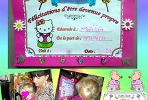 DIPLÔME pour enfants / LES diplômes à colorier