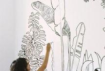 muurschilderingen huisje