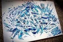 Wild Style / El estilo salvaje se caracteriza por sus trazos alborotados y que no sólo contienen letras, sino que también forman parte de éstos.  Fuente: http://www.tiposde.org/arte/1047-tipos-de-graffitis/#ixzz4QOQdcTVK