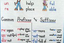 Prefixes suffixes