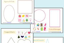 Sorting: Preschool Math Skills / Activities to help kids understand the concept of Sorting based on size, shape, color, etc.
