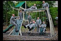 Grooms and Groomsman! / Yes guys, it's all about the bride! (as it should be!) But, great photographers make sure to capture the guys! Have some fun with your groomsman the morning of your wedding. These are always some of our favorite shots.