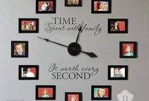 "Uppercase Living Clocks / UL's Vinyl Clocks Inspire. Our ""Time spent with family…"" clock is awesome & our top seller! Our clocks make a great addition to any room in your home & who doesn't need a clock! Decorate your space or give one as a gift.  Uppercase Living is having a Buy 1, Get 1 Half Off Sale until 12/31/14. Need help—email me : jean928@verizon.net"