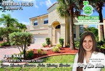 Riviera Isles Miramar FL Homes for Sale / Gated community with amazing amenities, gym, pool, clubhouse, basketball courts, lake & pier.