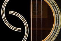 "Herringbone / inlay sticker ""Herringbone"" guitar/ukulele decals"