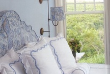 Bedroom redo / Blue and white / by Brucie Mintz