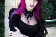 Goth hair colours