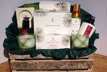 Frasier Fir Gift Baskets by Dream Weaver / Frasier Fir, the fragrance of Christmas.  All wrapped up in beautiful Birch bark baskets & crates by Dream Weaver.