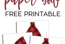 Papercrafting, freebies