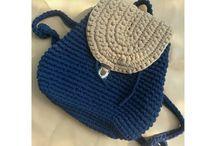crochet ransel bag