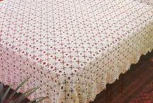 Crochet fine throw