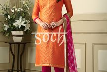 Ziva Ready To Stitch / Gorgeous dress materials that you can stitch to suit your style. Order these now from http://soch.in/unstitched/ziva-unstitched.html