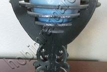 Ahşap Ayaklı  Mumluk - Wood Candle Holder