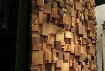 Muros decorados con madera