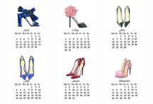 calendario zapatos