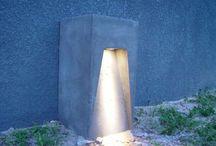 Lamparas de concreto para exteriores de casa
