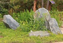 Scultural Stone Arrangement / Denver Granite is a local stone material that makes great stone arrangements.