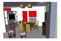 Diseños propios - Casa Particular / Casa particular donde se pidió tener dos opciones de distribución, también se definió la paleta de colores.