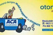 Asuransi mobil /  ACA OTOMATE : PAKET TERLENGKAP MULAI 1,26% All Risk/Comprehensive + Banjir + Gempa Bumi + Huru-hara + Kerusuhan + Terorisme + TJH 20 Juta + Personal Accident Pengemudi & Penumpang