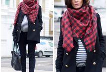 Piękna zimą w ciąży
