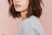 coiffure carré frange