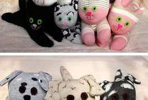 игрушки  из разного материала