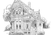 COLORING - HOUSES