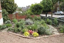 Front Gardens / Paving and planting designs and ideas for front gardens. By Plews Garden Design and others we like.