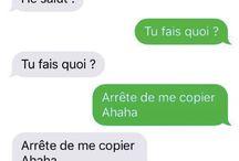 Conversation SMS drôles