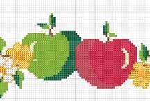 Вышивка яблочная