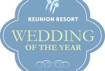 Reunion WOY Contest 2014 / Reunion Resort will be hosting its inaugural Wedding of the Year contest. All weddings occurring in 2014 will be eligible to win. Each wedding will have the opportunity to be showcased on our Reunion Weddings Blog. #ReunionWOY