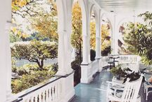 Southern Porches / There's nothing that says Southern style more than a big porch.