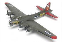 WWII aircraft models / Classics from the era of the Spitfire, Messerschmitt, Mustang, Zero, Macchi 202 and Sturmovik.