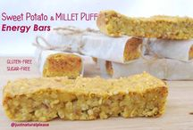 Sweet Potato & Millet Puff Energy Bars / Another recipe idea for some homemade, cheap, healthy, energizing and delicious energy bars! Vegan, gluten-free, sugar-free, oil-free.