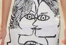 kresby na textil