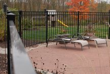Aluminum Fence / Aluminum fence mimics the look of iron fencing at a fraction of the cost and without the maintenance.