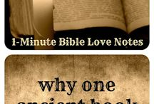 ♥ God's WORD ♥ / These 1-minute devotions from BibleLoveNotes.com talk about various benefits and characteristics of God's Wonderful Word--the Bible.