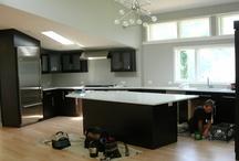 Kitchen - New Construction / Kennet Square / Wood: Cherry; Finish: Stain/Extra Dark Walnut; Hardware: Stainless Steel Pulls;  Fox & Wolf, Inc., 4010 Skippack, PA, 19474 / PHONE: (610) 584-6396 / WEBSITE:  www.foxandwolfwoodworking.com