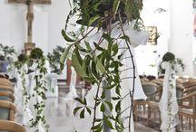 Kościół / dekoracje ślubne w kościele