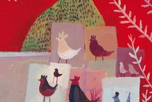 Chickens (in art)