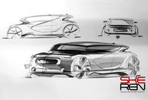 Cars and motorcycles Design