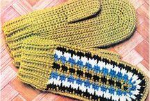 Вязанные варежки ,перчатки